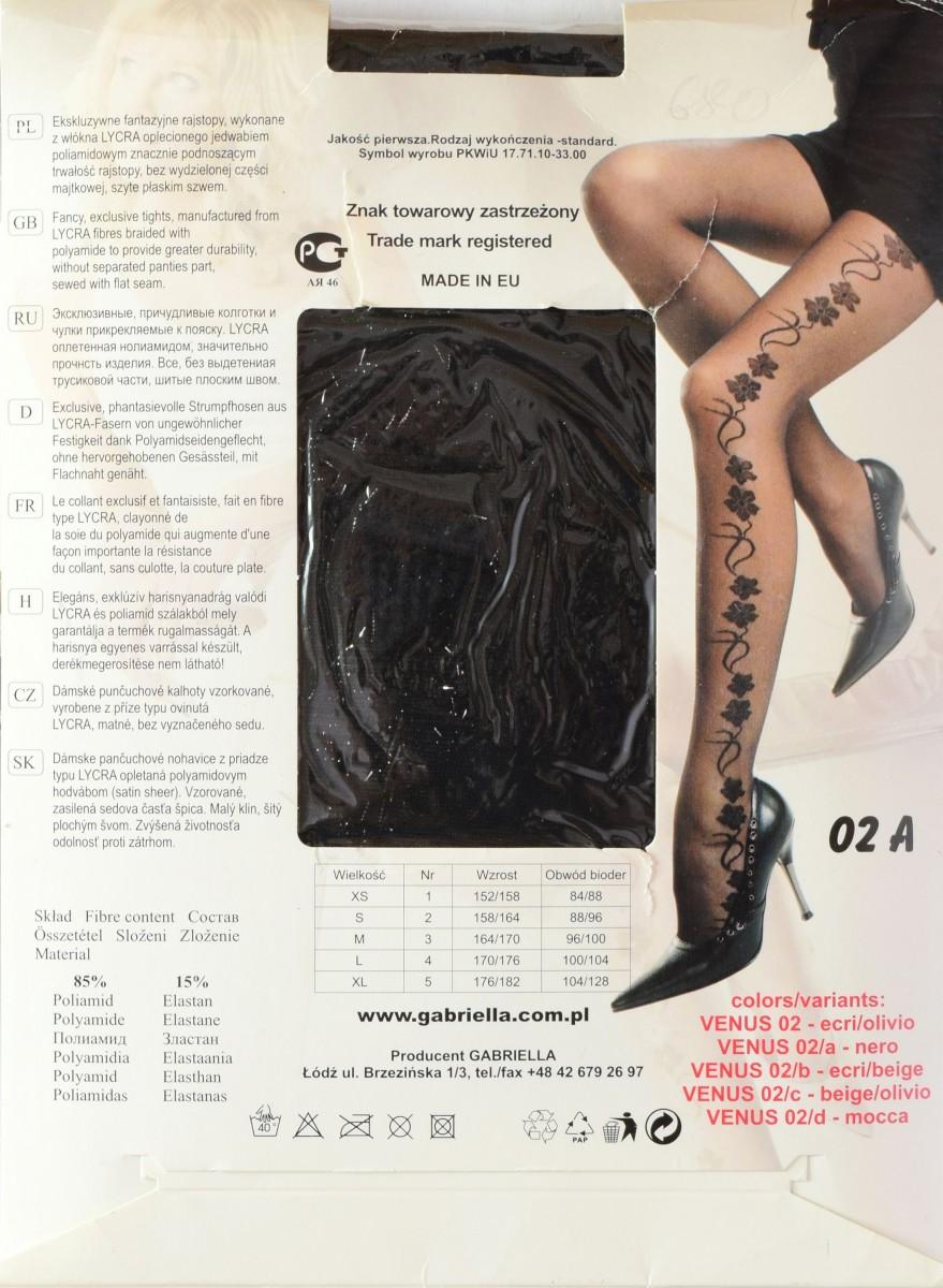 Venus model #02 Gabriella описание колготок